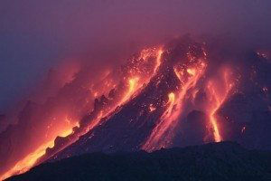 Montserrat Volcano at night www.njcharters.com
