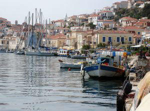 Poros Island fishing boats