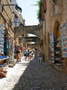 Rhodes Old Town Walking Street www.njcharters.com