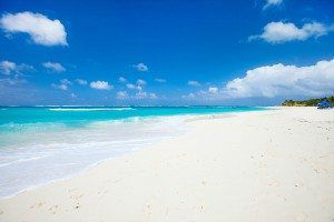 Beautiful beach on Anguilla island, Caribbean