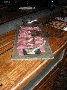 Fresh Caught Tuna Sashimi www.njcharters.com