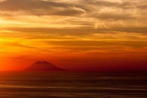 A view of Stromboli from mainland Italy