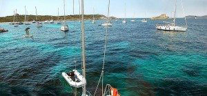 Porquerolles Anchorage View from Water www.njcharters.com #DestinationConfidential
