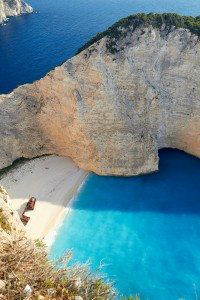 Bay of Shipwreck at Navagio beach, Zakinthos, Greece