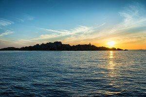 Sunrise In Lavezzi Island, Corsica, France