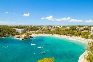 Cala Galdana - one of the most popular beaches at Menorca island