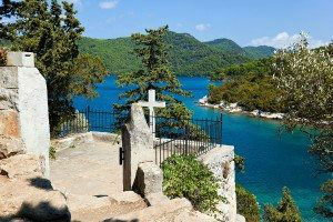 Grave on island Mljet in Croatia