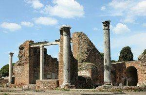 Ostia Antica Temple Ruins
