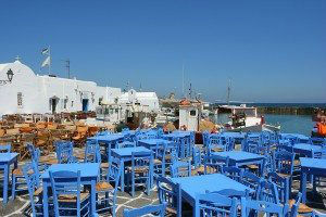 Paros Tavernas on the Quay in Naousa www.njcharters.com